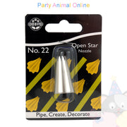 JEM Nozzle 22 - Open Star Piping Tube