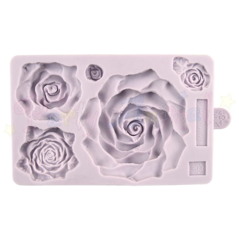 Karen Davies Mould LARGE - Large Rose Set of Five