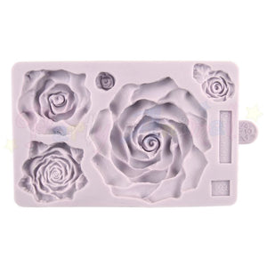 LARGE ROSES Mould From Karen Davies. High quality mould made of flexable silicon for creating sugarpaste faces. @partyanimalonline