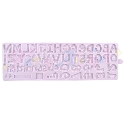 ALPHABET AND NUMBERS Border Mould From Karen Davies. High quality mould  @partyanimalonline