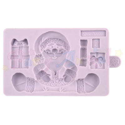 Karen Davies Christmas Moulds - Sitting Santa