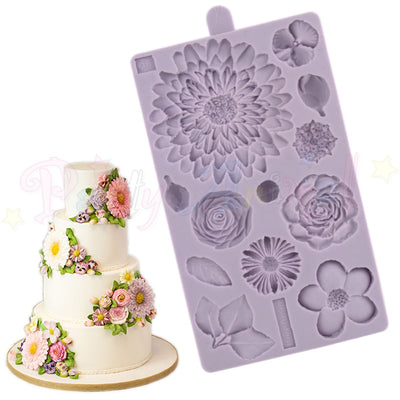Karen Davies Mould - Buttercream Flowers Set