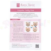 Karen Davies Cupcake Topper Mould - Cupcake Teddy Face with hat