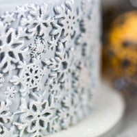Karen Davies Large Border Mould - Sugar Snowflakes 2018