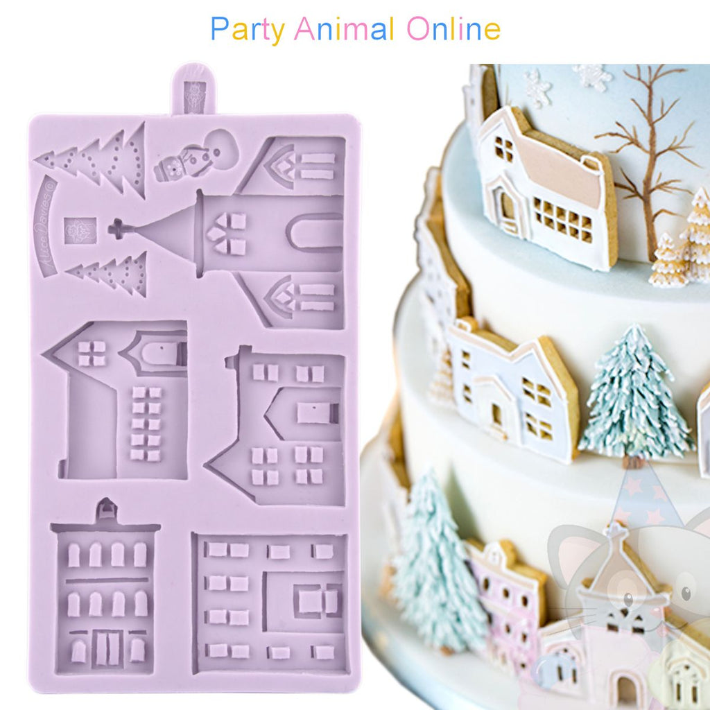Karen Davies Christmas Moulds - Winter Village 2018