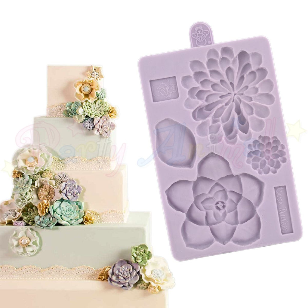 Karen Davies Mould - Succulent Flower Set