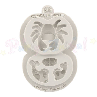 Katy Sue Cupcake Sugar Buttons Moulds - Crab and Fish