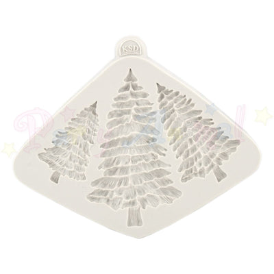 Katy Sue Moulds - Christmas Fir Trees Silhouettes