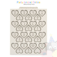 "Katy Sue Moulds Design Mat 4""x 4"" - Heart Alphabet"