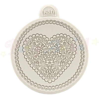 Katy Sue Cupcake Moulds - LACE HEART