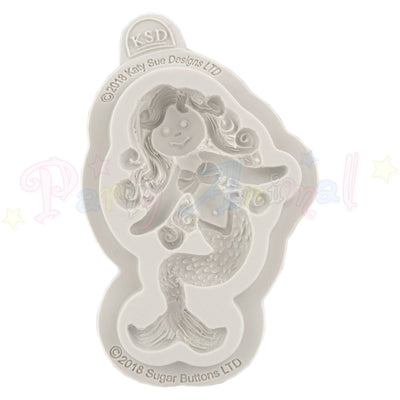Katy Sue Cupcake Sugar Buttons Moulds - Little Mermaid