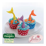 Katy Sue Cupcake Sugar Buttons Moulds - Mermaid Tails