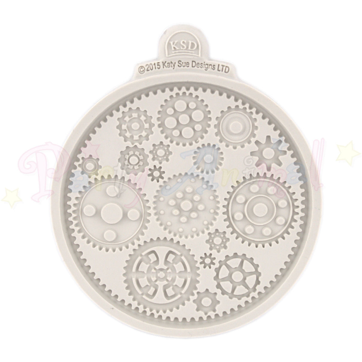 Katy Sue Cupcake Moulds - Cogs and Wheels - Top View