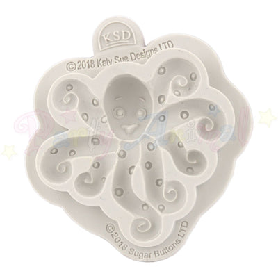Katy Sue Cupcake Sugar Buttons Moulds - Octopus