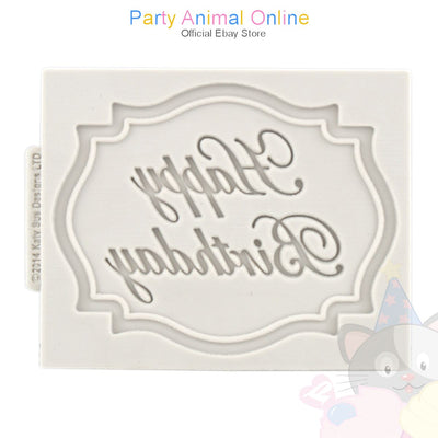 Katy Sue Mini Plaque Moulds - HAPPY BIRTHDAY