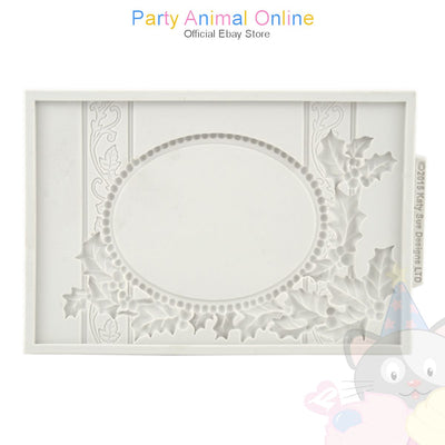 Katy Sue Vintage Christmas Plaque Mould - Oval Aperture