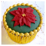 Katy Sue Cupcake Moulds - POINSETTIA
