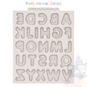"Katy Sue Moulds Design Mat 4""x 4"" - Stitched Alphabet Small"