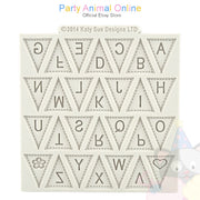 "Katy Sue Moulds Design Mat 4""x4"" - Alphabet Bunting"