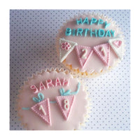 "Katy Sue Moulds Design Mat 4""x4"" - Number Bunting"