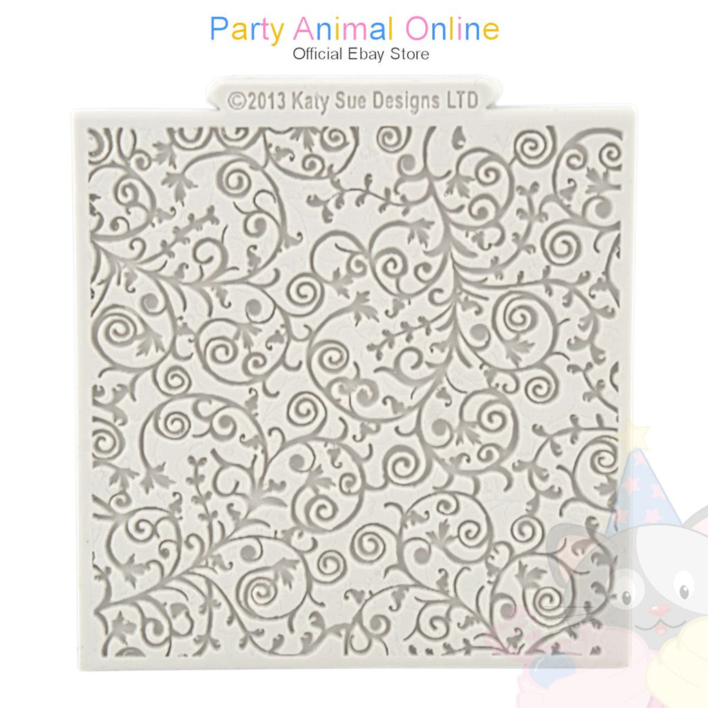 "Katy Sue Moulds Design Mat 4""x4"" - Romantic Swirl"