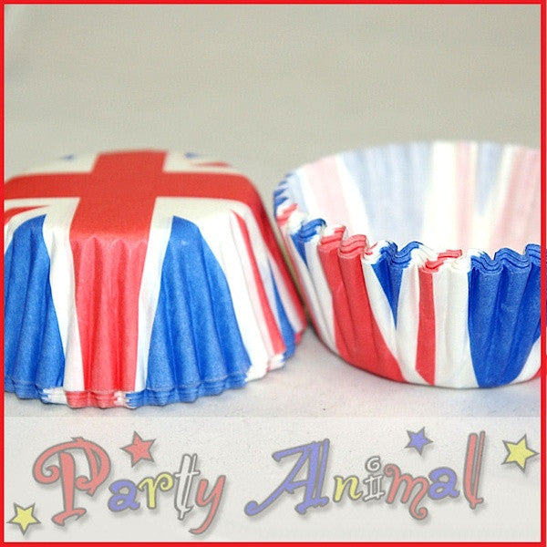 Baking Cases - approx. 54/pack - Union Jack
