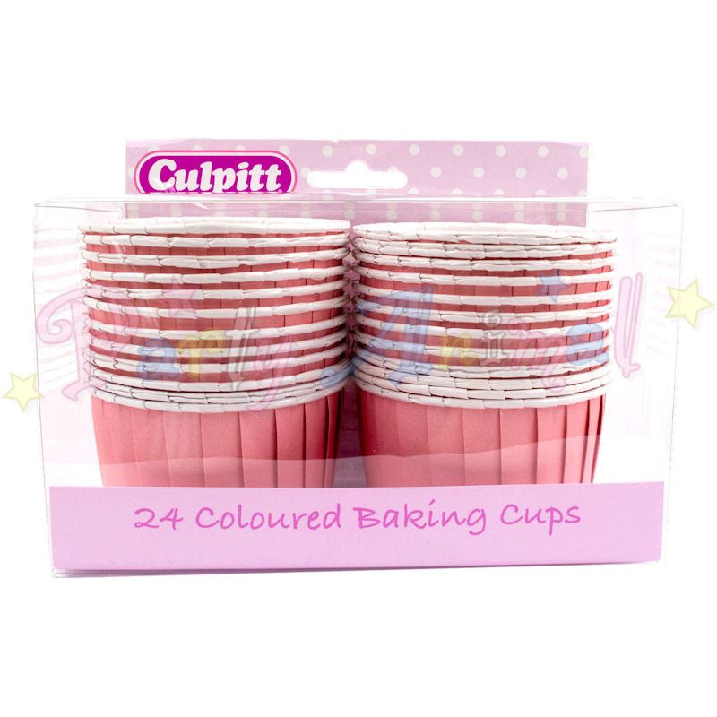 Muffin Cupcake Cups - Pack of 24 - Pink