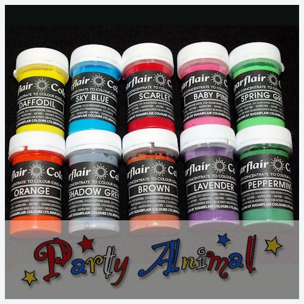 Sugarflair PASTEL PASTE Food Colouring - Set One - 10 Colours