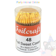 Metallic Foil Sweet Cases - approx. 48/pack - Gold