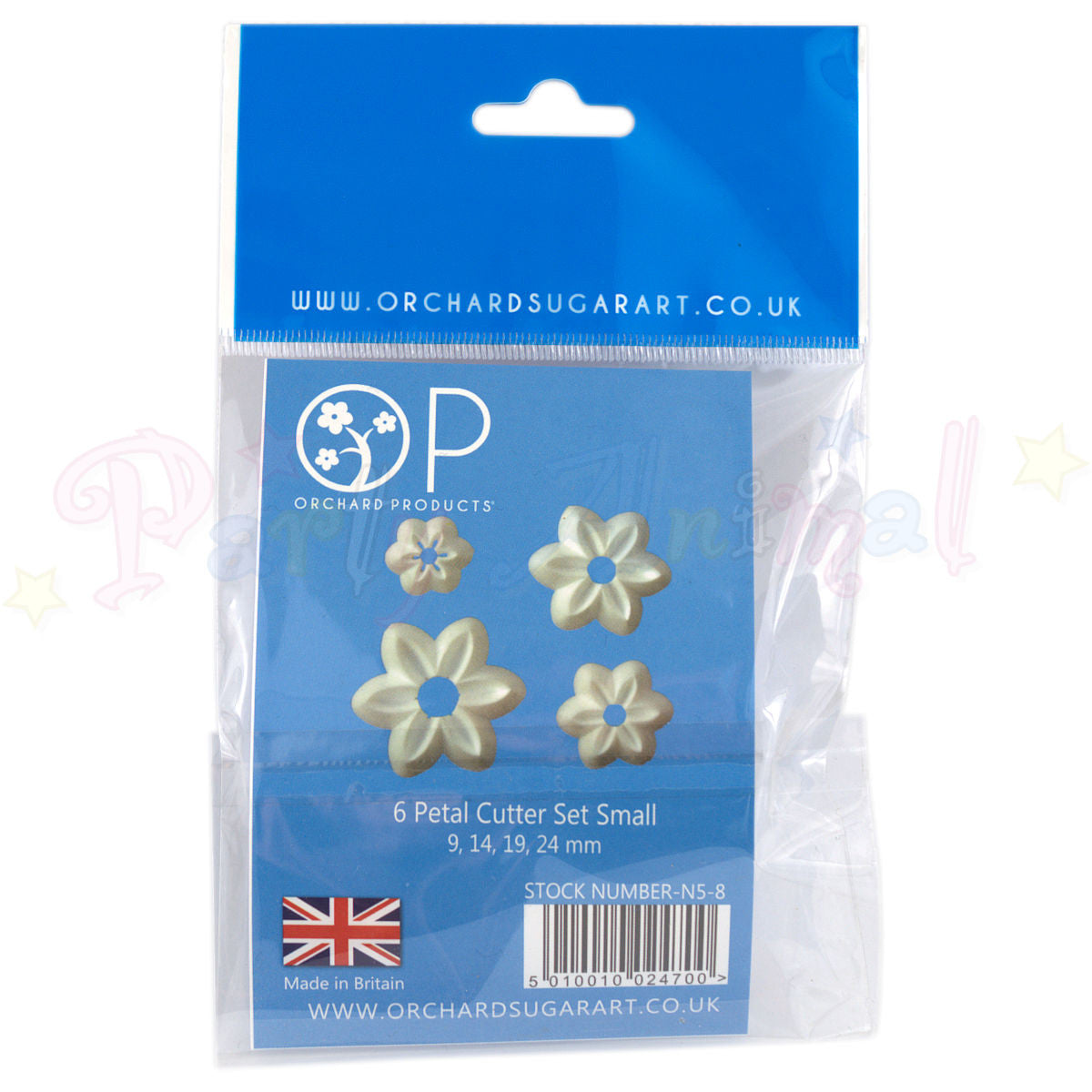 Orchard Products 6 Petal Flower Cutter Set N5, N6, N7, N8 - SMALL