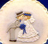 Patchwork Cutters BRIDE & GROOM Reverse idea