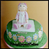 PATCHWORK CUTTERS Rag Doll Cake Topper