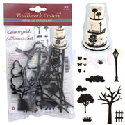 Patchwork Cutters COUNTRYSIDE SILHOUETTE SET for cake decorating
