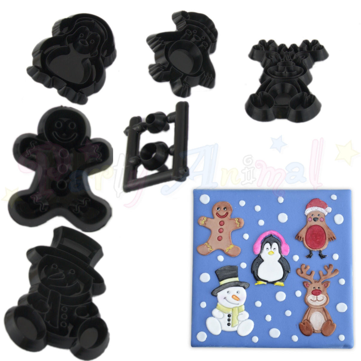 Patchwork Cutters CHRISTMAS CHARACTERS SET
