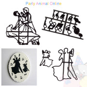Patchwork Cutters DANCING FIGURES Silhouette (Dancers)