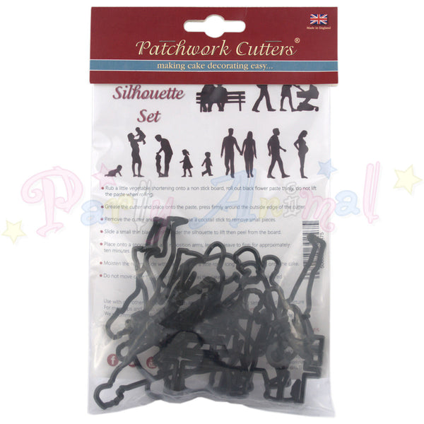 Patchwork Cutters Family Silhouette Set Partyanimalonline