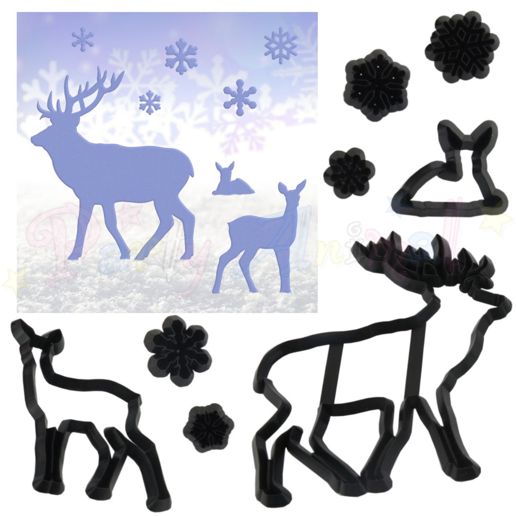 Patchwork Cutters Stag and Snowflake Set