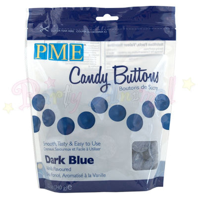 PME Candy Buttons DARK BLUE - Vanilla Flavoured 340g