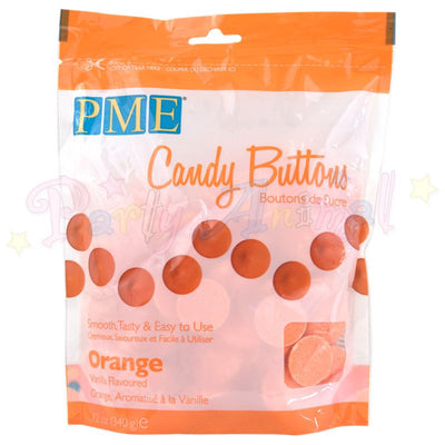 PME Candy Buttons ORANGE - Vanilla Flavoured 340g