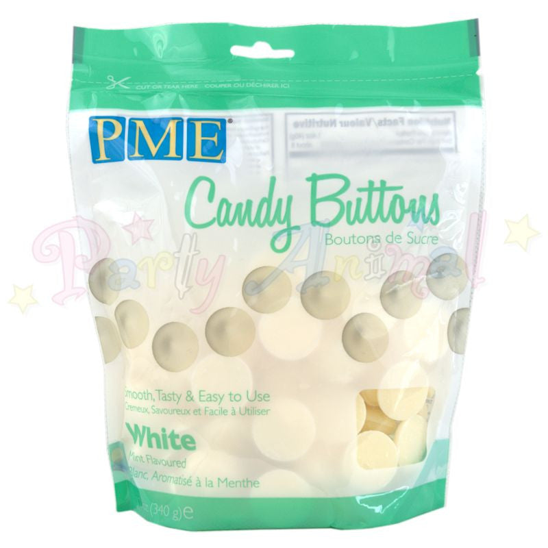 PME Candy Buttons WHITE - Mint Flavoured 340g