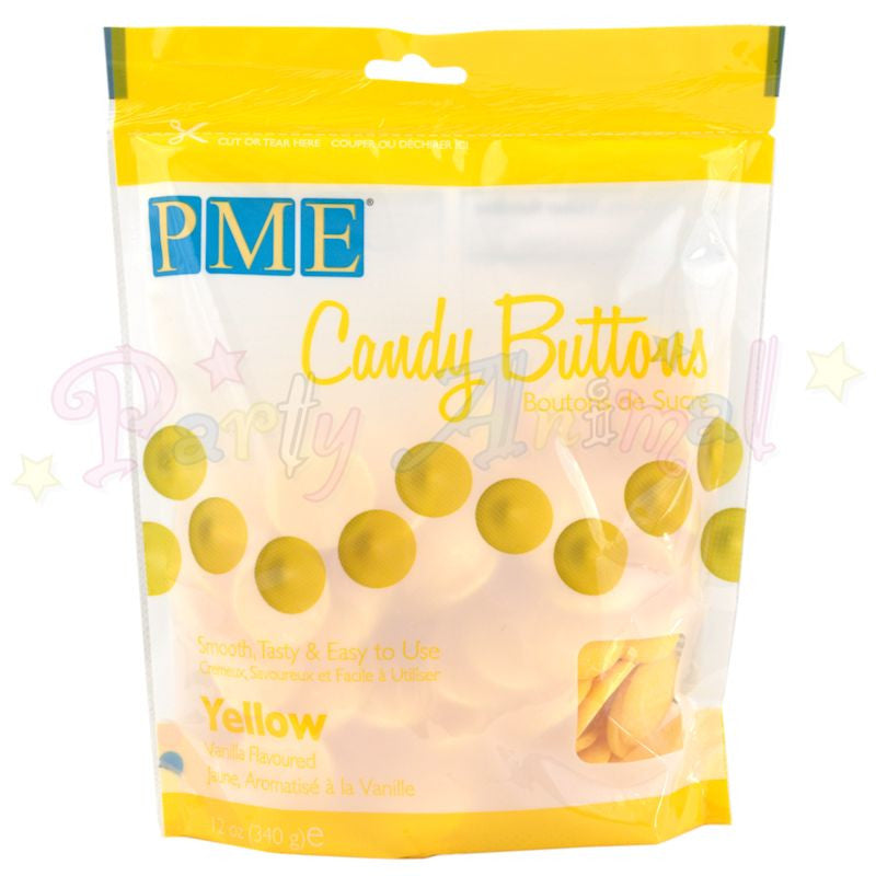 PME Candy Buttons YELLOW - Vanilla Flavoured 340g