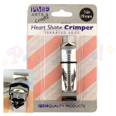 PME Heart Crimper with  Serrated Edge - 19mm