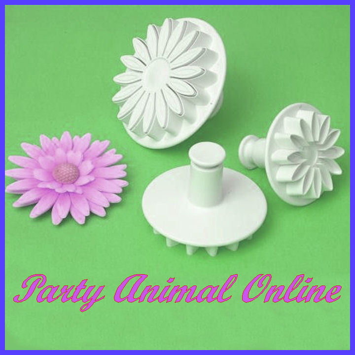 PME Sunflower, Gerbera, Daisy Plunger Cutters- Set of 3