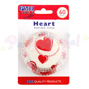 PME Bun / Cupcake Cases HEART - Pack of 60