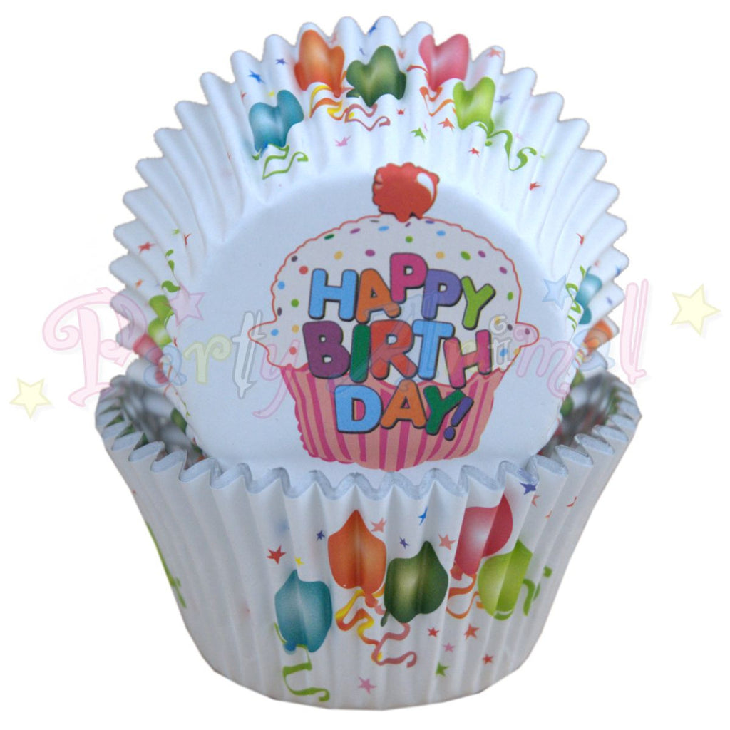 PME FOIL Baking Cases - BALLOONS Pack of 30 Cupcake / Bun Cases