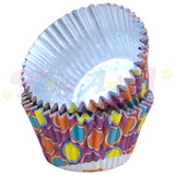 PME FOIL Baking Cases - BRIGHT BUBBLES Pack of 30 Cupcake / Bun Cases