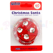 PME Bun / Cupcake Cases CHRISTMAS SANTA - Pack of 60