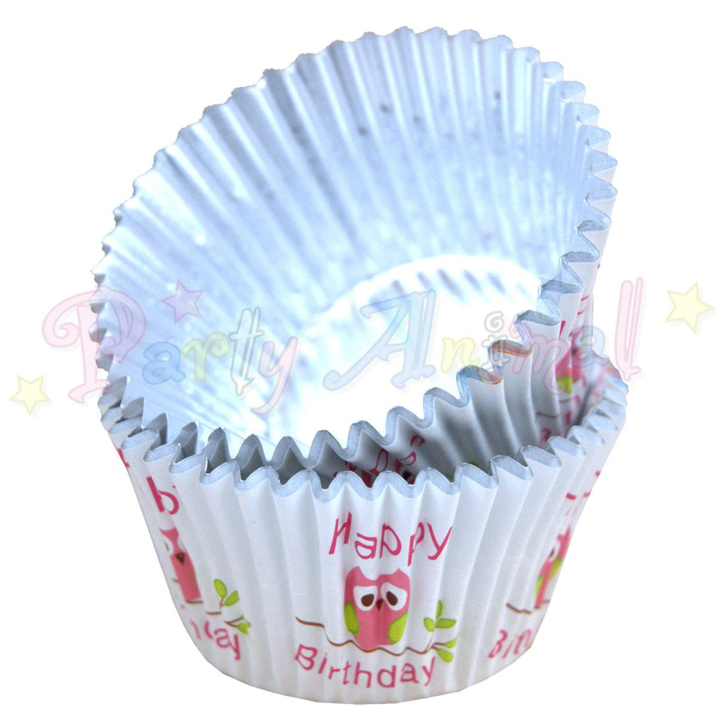 PME FOIL Baking Cases - CUTE OWLS Pack of 30 Cupcake / Bun Cases