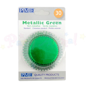 PME Bun / Cupcake Cases METALLIC GREEN - Pack of 60