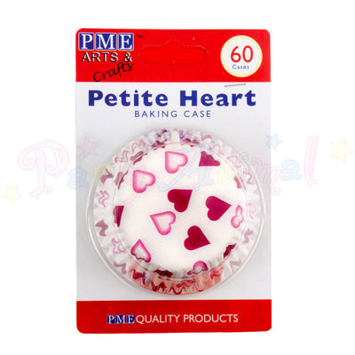 PME Bun / Cupcake Cases PETITE HEART - Pack of 60